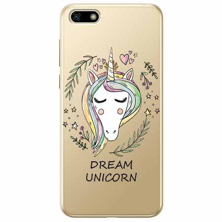 Etui na telefon Huawei Y5 2018 - Dream unicorn - Jednorożec.