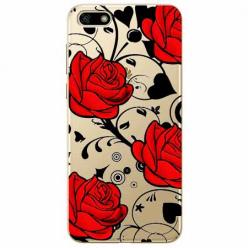 Etui na telefon Huawei Y5 2018 - Czerwone róże.