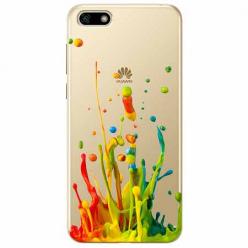 Etui na telefon Huawei Y5 2018 - Kolorowy splash.