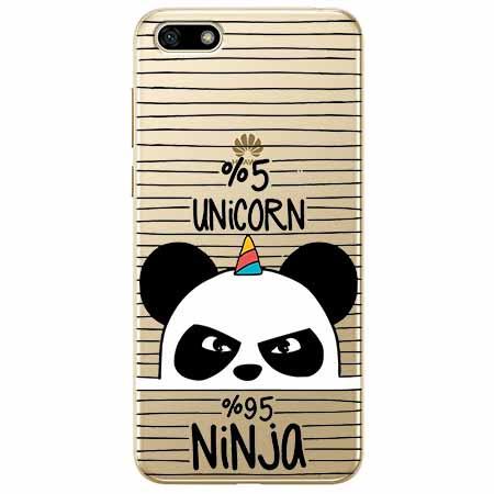 Etui na telefon Huawei Y5 2018 - Ninja Unicorn - Jednorożec.