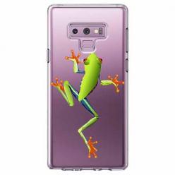 Etui na Samsung Galaxy Note 9 - Zielona żabka.