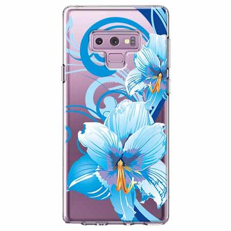 Etui na Samsung Galaxy Note 9 - Niebieski kwiat północy.