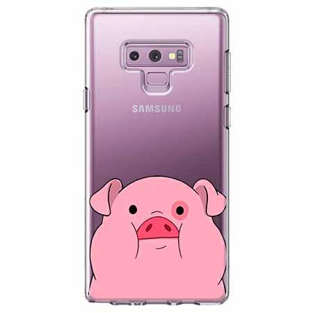 Etui na Samsung Galaxy Note 9 - Słodka różowa świnka.