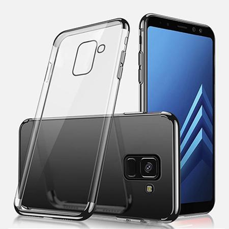 Etui na Samsung Galaxy J6 2018 - silikonowe platynowane SLIM - Czarny.