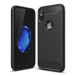 Etui na iPhone X - bumper Neo CARBON - Czarny.