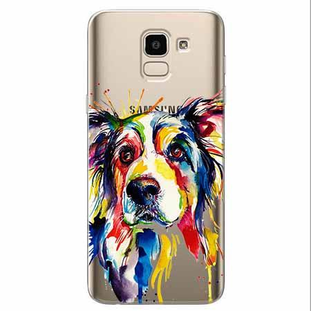 Etui na Samsung Galaxy J6 2018 - Watercolor pies.