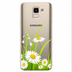 Etui na Samsung Galaxy J6 2018 - Polne stokrotki.