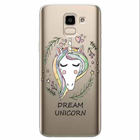 Etui na Samsung Galaxy J6 2018 - Dream unicorn - Jednorożec.