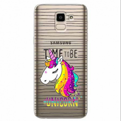 Etui na Samsung Galaxy J6 2018 - Time to be unicorn - Jednorożec.