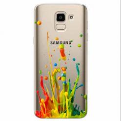 Etui na Samsung Galaxy J6 2018 - Kolorowy splash.