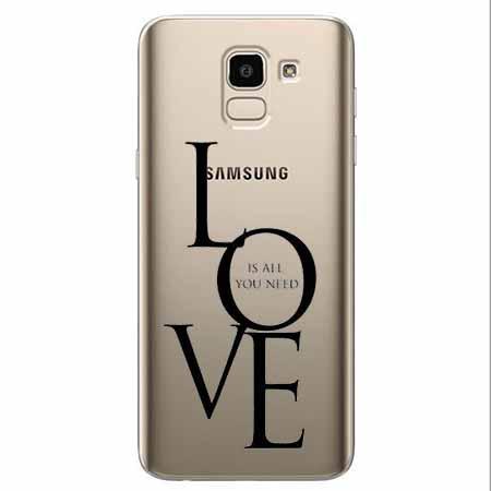 Etui na Samsung Galaxy J6 2018 - All you need is LOVE.