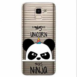 Etui na Samsung Galaxy J6 2018 - Ninja Unicorn - Jednorożec.