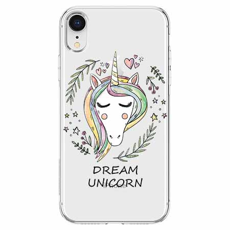 Etui na telefon Apple iPhone XR - Dream unicorn - Jednorożec.