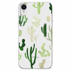 Etui na telefon Apple iPhone XR - Kaktusowy ogród.
