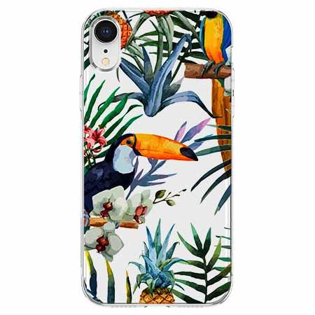 Etui na telefon Apple iPhone XR - Egzotyczne tukany.
