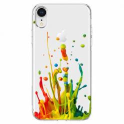 Etui na telefon Apple iPhone XR - Kolorowy splash.