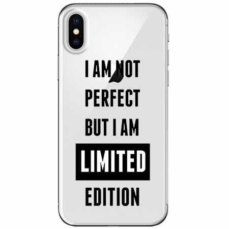 Etui na telefon Apple iPhone XS Max -  I Am not perfect…