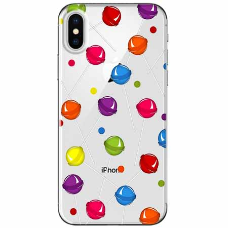 Etui na telefon Apple iPhone XS Max -  Kolorowe lizaki.