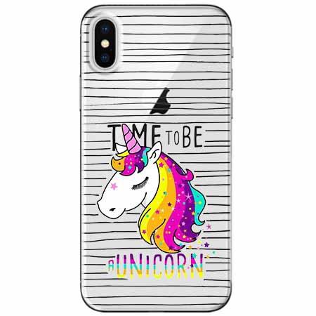 Etui na telefon Apple iPhone XS Max -  Time to be unicorn - Jednorożec.
