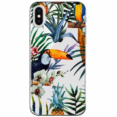 Etui na telefon Apple iPhone XS Max -  Egzotyczne tukany.