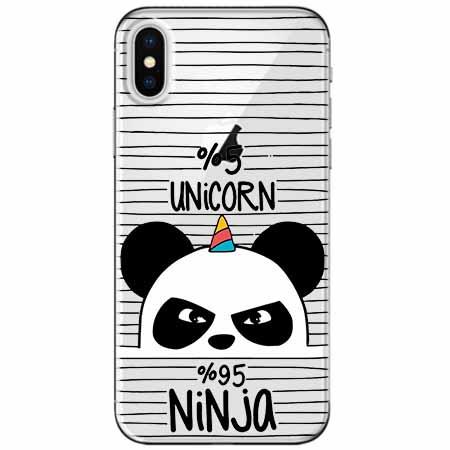 Etui na telefon Apple iPhone XS Max -  Ninja Unicorn - Jednorożec.
