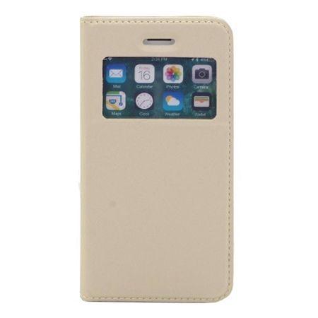 Etui na iPhone XS -  S View z klapką - Złoty.
