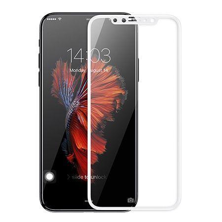 Hartowane szkło na cały ekran 3d iPhone XS - Biały.