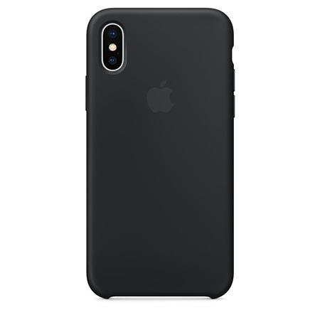 Oryginalne etui Apple na iPhone XS Silicone Case - Czarny