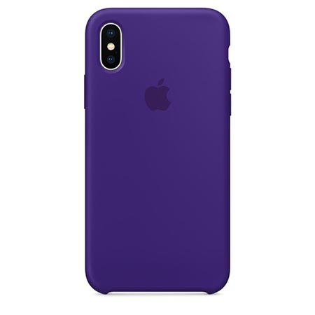 Oryginalne etui Apple na iPhone XS Silicone Case - Fioletowy
