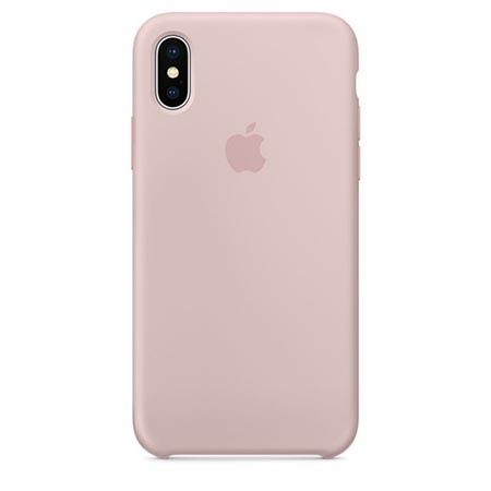 Oryginalne etui Applena iPhone XS Silicone Case - Różowy