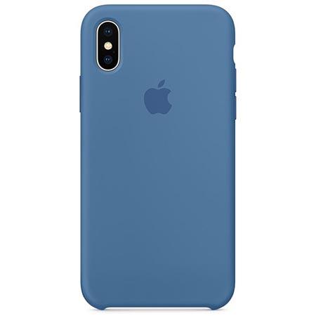 Oryginalne etui Apple na iPhone XS Silicone Case - Niebieski