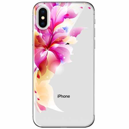 Etui na telefon Apple iPhone XS - Bajeczny kwiat.