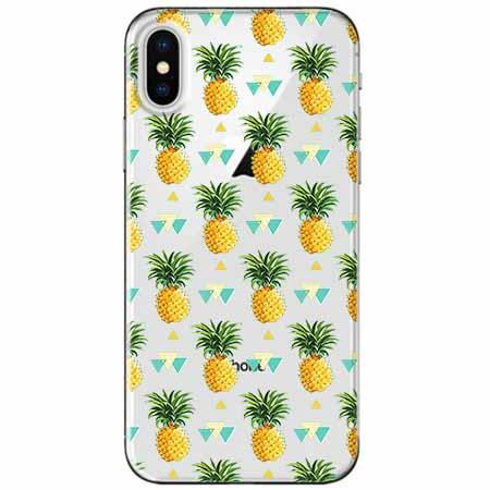 Etui na telefon Apple iPhone XS - Ananasowe szaleństwo.