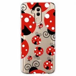 Etui na telefon Huawei Mate 20 Lite -Czerwone wesołe biedronki.