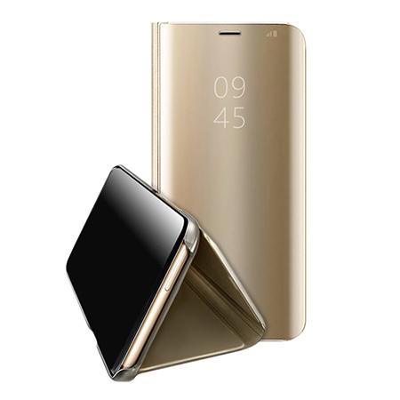 Etui na Huawei Mate 20 Lite - Flip Clear View z klapką - Złoty.
