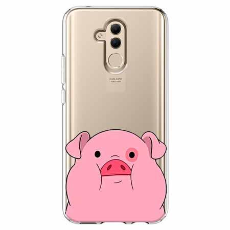 Etui na telefon Huawei Mate 20 Lite - Słodka różowa świnka.
