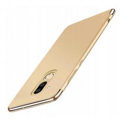 Etui na telefon Huawei Mate 20 Lite - Slim MattE Platynowane - Złoty.