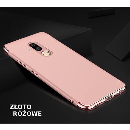 Etui na telefon Huawei Mate 20 Lite - Slim MattE Platynowane - Różowy.