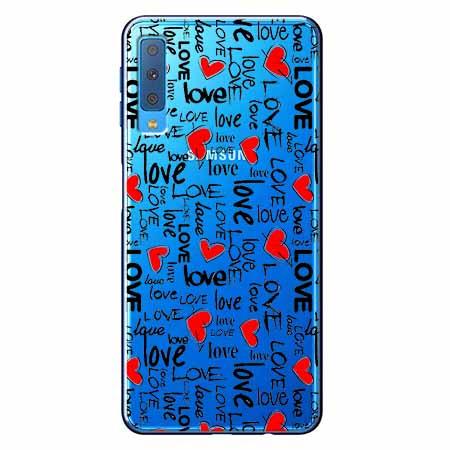 Etui na Samsung Galaxy A7 2018 - Love, love, love…