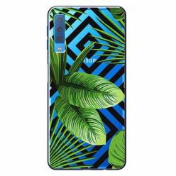 Etui na Samsung Galaxy A7 2018 -  Egzotyczne liście bananowca.