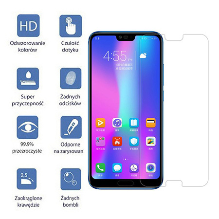 Huawei Honor 10 - hartowane szkło ochronne na ekran 9h.