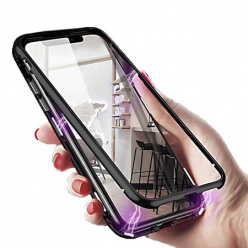 Etui metalowe Magneto na iPhone XS - Czarny