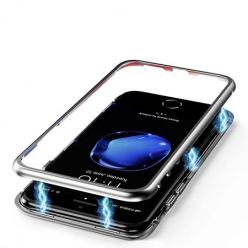 Etui metalowe Magneto na iPhone 8 Plus - Srebrny