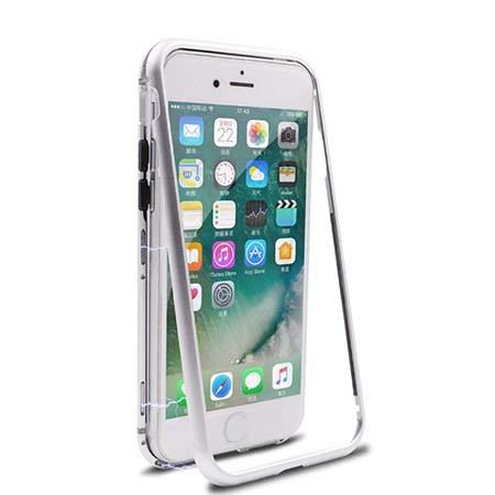 Etui metalowe Magneto na iPhone 8 - Srebrny