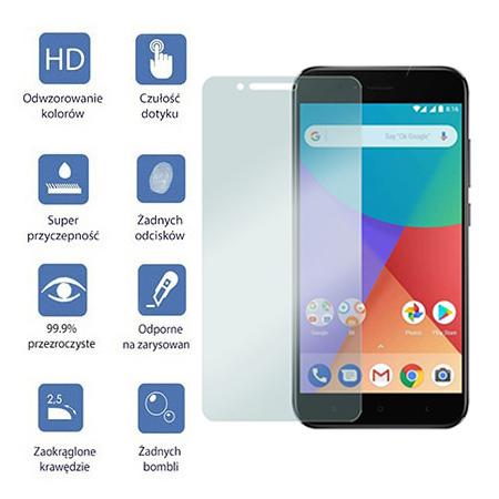 Xiaomi Mi A1 - hartowane szkło ochronne na ekran 9h.