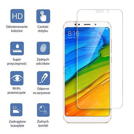 Xiaomi Redmi 5 - hartowane szkło ochronne na ekran 9h.