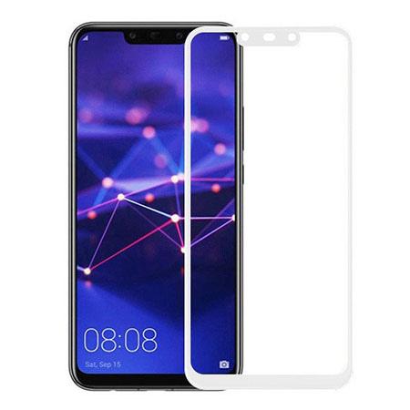 Huawei Mate 20 Lite - hartowane szkło 5D na cały ekran - Biały.
