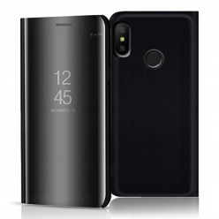 Etui na Xiaomi Mi A2 Lite - Flip Clear View z klapką - Czarny.