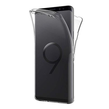 Etui na Samsung Galaxy S9 - silikonowe 360 Full przód i tył - przezroczyste.