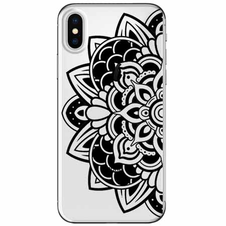 Etui na telefon Apple iPhone X - Kwiatowa mandala.